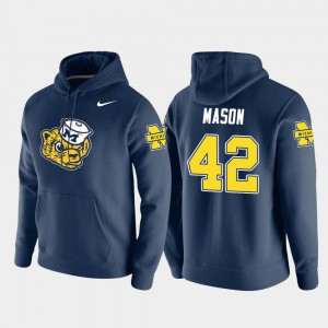 #42 Navy Pullover Ben Mason Michigan Hoodie Mens Vault Logo Club 645838-112