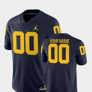 2018 Game Michigan Customized Jerseys College Football #00 For Men Navy 990728-742