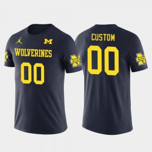 Navy Future Stars Men Cotton Football Michigan Customized T-Shirt #00 833337-551