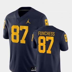 Men College Football Game Devin Funchess Michigan Jersey #87 Navy 277950-970