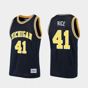 Basketball Alumni Navy Mens Glen Rice Michigan Jersey #41 648268-426