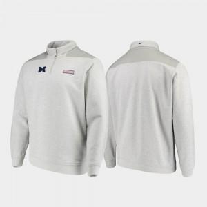 Shep Shirt Heathered Gray Men Michigan Jacket Quarter-Zip 603054-665