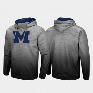 Pullover Men's Sitwell Sublimated Heathered Gray Michigan Hoodie 340605-589