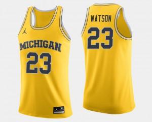#23 Maize College Basketball Ibi Watson Michigan Jersey Men 344083-605