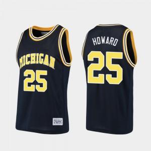 Juwan Howard Michigan Jersey Alumni #25 Mens Basketball Navy 923150-753
