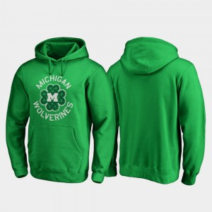 Kelly Green Michigan Hoodie Luck Tradition Men St. Patrick's Day 799713-456