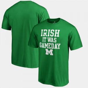 Kelly Green Irish It Was Gameday For Men's St. Patrick's Day Michigan T-Shirt 328602-645