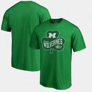 Kelly Green For Men St. Patrick's Day Michigan T-Shirt Paddy's Pride Big & Tall 387030-666
