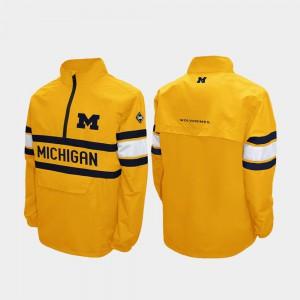 Maize Michigan Jacket Alpha Windshell Pullover Men's Quarter-Zip 500598-960