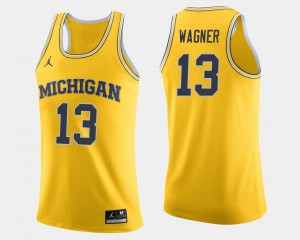 Moritz Wagner Michigan Jersey For Men's Maize College Basketball #13 317431-202