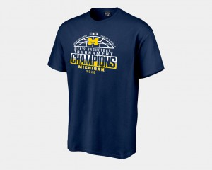 2018 Big Ten Champions Locker Room Men's Navy Michigan T-Shirt Basketball Conference Tournament 487496-661