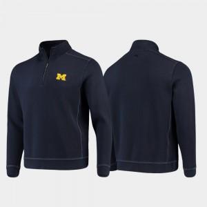 Men Navy College Sport Nassau Half-Zip Pullover Tommy Bahama Michigan Jacket 210570-949