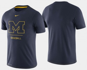 For Men Navy Michigan T-Shirt Dugout Performance College Baseball 333865-695
