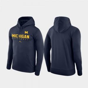 Men's Football Practice Michigan Hoodie Performance Navy 375732-815