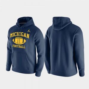 Club Fleece Navy Michigan Hoodie Retro Football For Men 405390-908