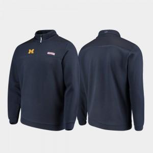Navy Shep Shirt Michigan Jacket For Men Quarter-Zip 718155-940