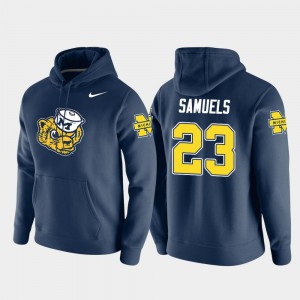 Mens Pullover Vault Logo Club O'Maury Samuels Michigan Hoodie Navy #23 557022-294