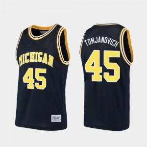 Alumni For Men Navy Rudy Tomjanovich Michigan Jersey Basketball #45 990448-211