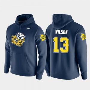 Mens Tru Wilson Michigan Hoodie Vault Logo Club Pullover #13 Navy 293260-377