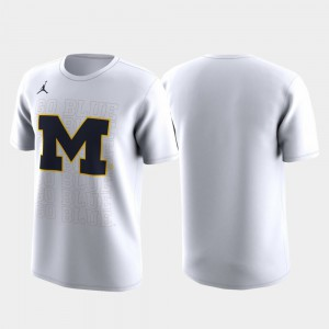 Men's Michigan T-Shirt March Madness Legend Basketball Performance White Family on Court 830391-255