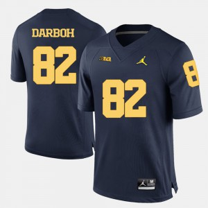 Men Amara Darboh Michigan Jersey Navy Blue #82 College Football 635267-195