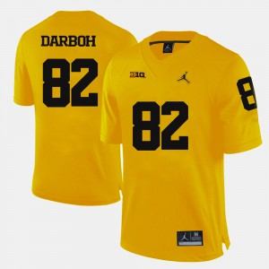 Amara Darboh Michigan Jersey College Football Yellow Men's #82 777231-927