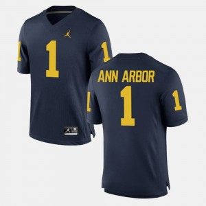 Alumni Football Game Ann Arbor Michigan Jersey Navy For Men's #1 669254-894