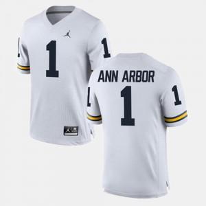 For Men #1 Ann Arbor Michigan Jersey Alumni Football Game White 606735-667