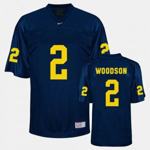 #2 Blue Youth College Football Charles Woodson Michigan Jersey 818331-197