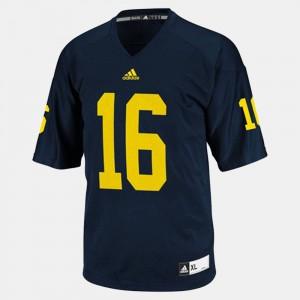 #16 Denard Robinson Michigan Jersey College Football Blue Youth(Kids) 837113-630
