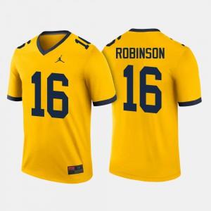 College Football Men Denard Robinson Michigan Jersey Maize #16 848927-645