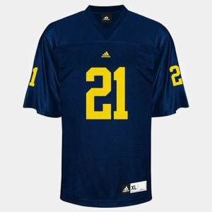 Blue desmond Howard Michigan Jersey #21 College Football For Men 167851-710