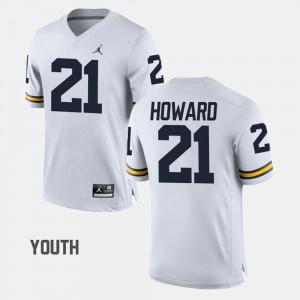 College Football Kids desmond Howard Michigan Jersey #21 White 531613-748