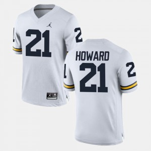White desmond Howard Michigan Jersey #21 College Football Men 232639-974