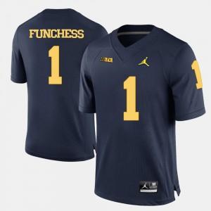College Football Navy Blue Men's Devin Funchess Michigan Jersey #1 952091-140