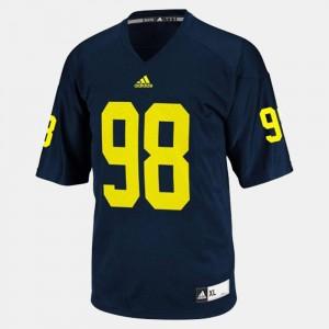 For Men #98 Devin Gardner Michigan Jersey Blue College Football 725413-782