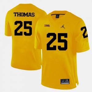 Yellow Dymonte Thomas Michigan Jersey Mens #25 College Football 634666-393