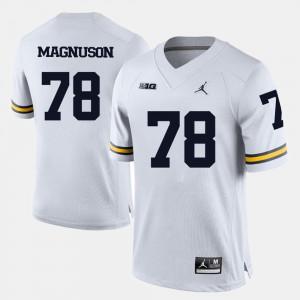 College Football Men #78 Erik Magnuson Michigan Jersey White 313641-532