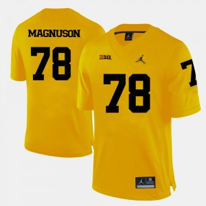 Yellow Erik Magnuson Michigan Jersey College Football Men #78 884597-979