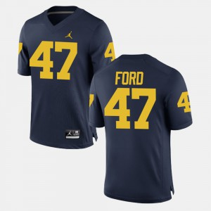 Navy #47 Men's Alumni Football Game Gerald Ford Michigan Jersey 126367-806