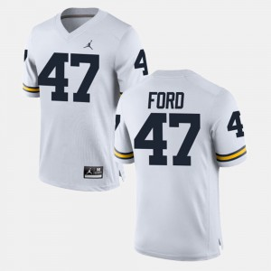 Alumni Football Game White Gerald Ford Michigan Jersey For Men's #47 434332-637