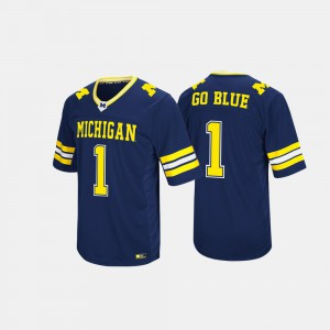 For Men's Hail Mary II Michigan Jersey #1 Navy 751730-174