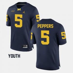 #5 Navy Kids Jabrill Peppers Michigan Jersey Alumni Football Game 747552-464