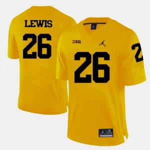College Football Jourdan Lewis Michigan Jersey Mens Yellow #26 364620-296