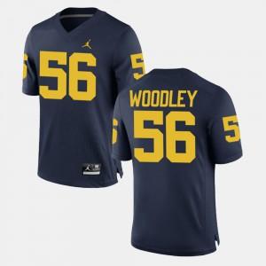 Lamarr Woodley Michigan Jersey #56 Men's Navy Alumni Football Game 749128-113
