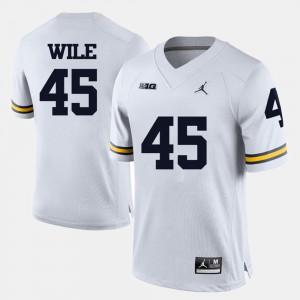 College Football Mens Matt Wile Michigan Jersey #45 White 177129-712