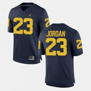 Michael Jordan Michigan Jersey For Men #23 Alumni Football Game Navy 166633-596