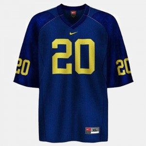 For Kids Mike Hart Michigan Jersey College Football #20 Blue 129925-306