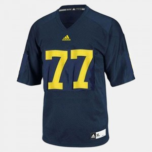 For Kids Blue College Football Taylor Lewan Michigan Jersey #77 634235-474