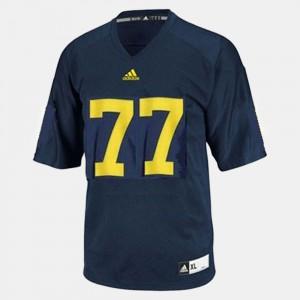 Blue College Football For Men Taylor Lewan Michigan Jersey #77 906626-146